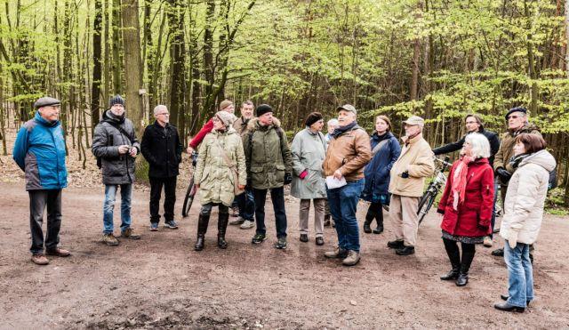 Dölauer Heide (17) Hallweg, Gruppe der TeilnehmerInnen