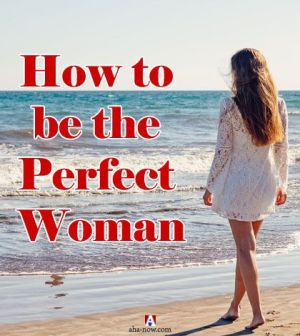 Woman on beach showing how to be the perfect woman