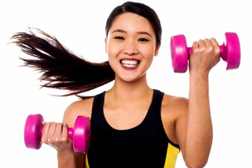 Girl exercising to avoid lifestyle problems