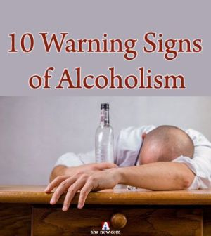 A man exhibiting important warning signs of alcoholism