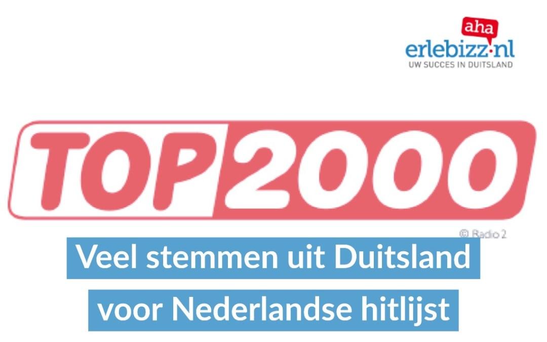 Top 2000 in Duitsland. Veel 'Duitse' stemmen voor Nederlandse hitlijst Radio 2