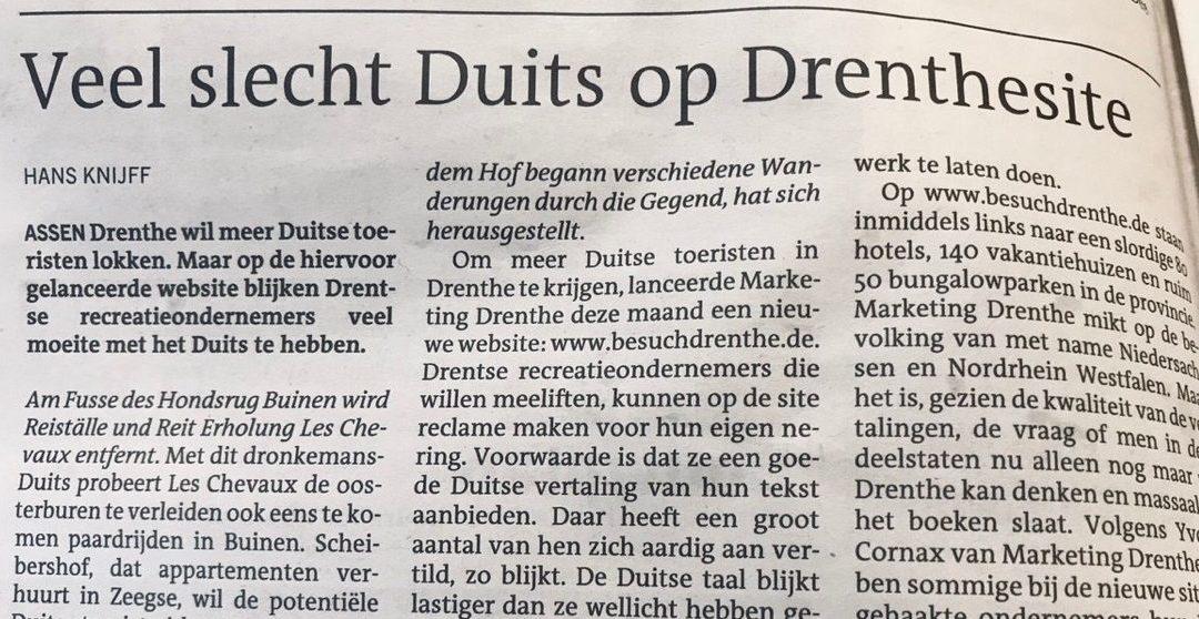 Met Google Duits gaat Marketing Drenthe de Duitse markt niet veroveren. Maar hoe dan wel?