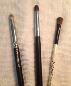 Three examples of a blending/crease brush.