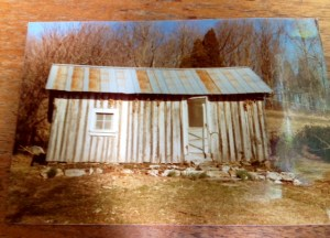 How the cabin looked when I moved there as a child.