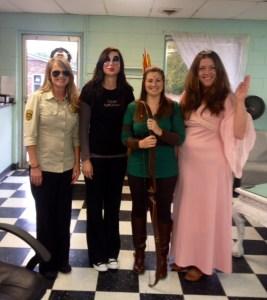 Kelly McGillis from Top Gun-Shu-Wanda, The Masked Lady-Angel, Cute Elf-Linnie-Pooh, Prom Queen-Martie