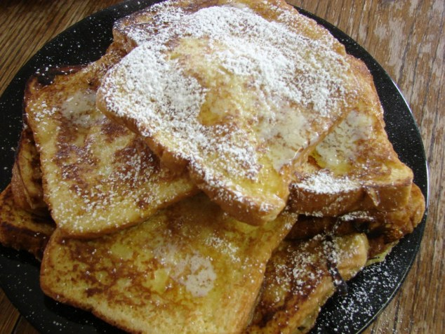 French toast heap