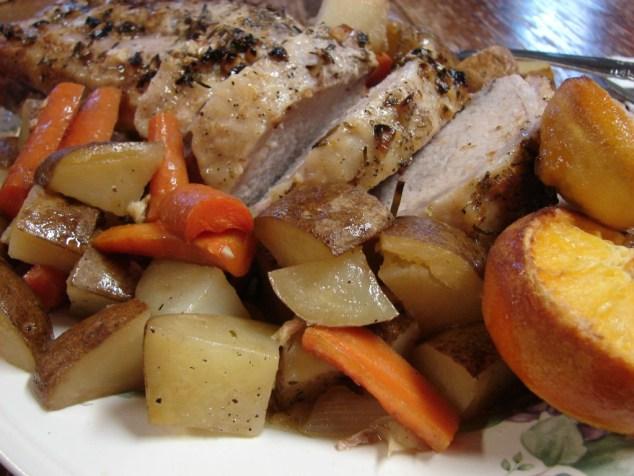rosemary garlic citrus pork