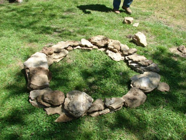 gardening with rocks; fire pit