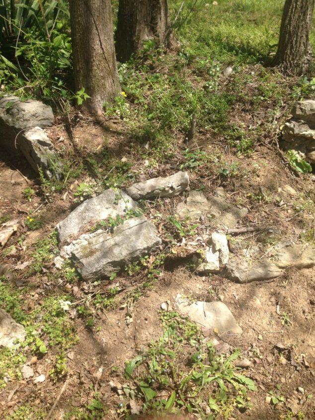 gardening with rocks, falling