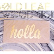 gold foil wood art