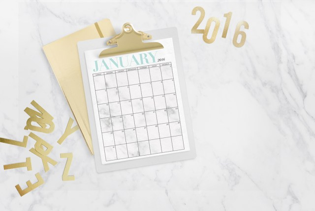 calendar clipboard 2016
