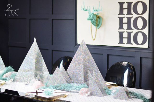Holiday Table decor ideas from A Happy Blog