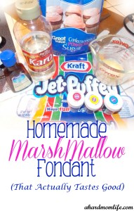 Homemade Marshmallow Fondant (That actually tastes good)