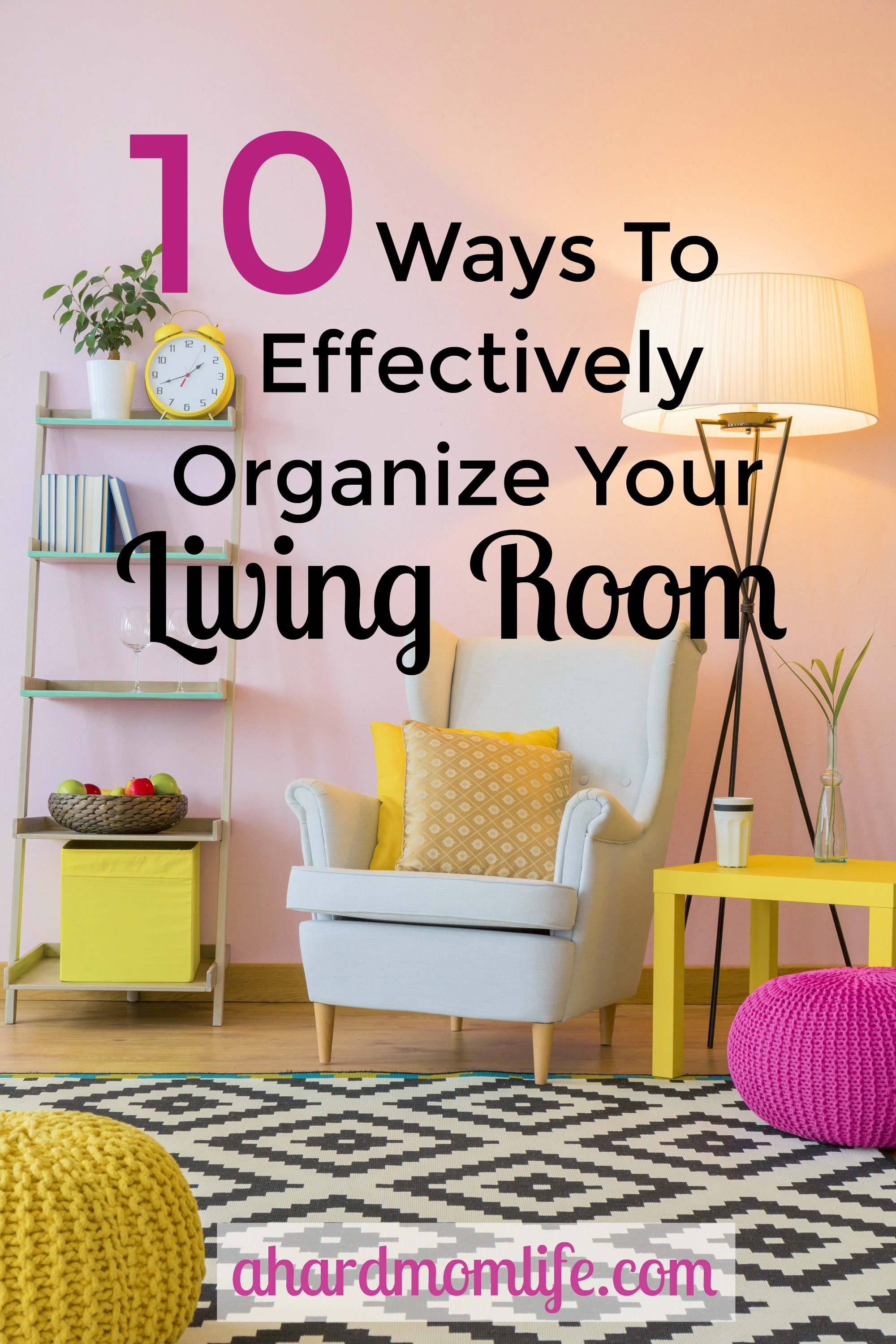 Looking to organize your living room? Here are some great tips to make the most of your space and help cut clutter before it starts.