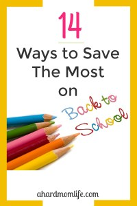 14 Ways to Save the Most on Back-To-School Shopping