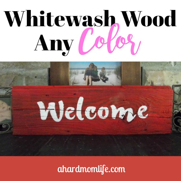 Do you want an easy DIY project that gets you a lot of bang for your buck? Well, here it is. You can whitewash wood any color using the paint you already own.