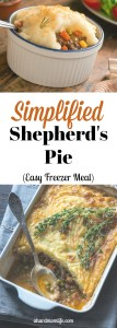 Simplified Shepherd's Pie | Easy Freezer Meal
