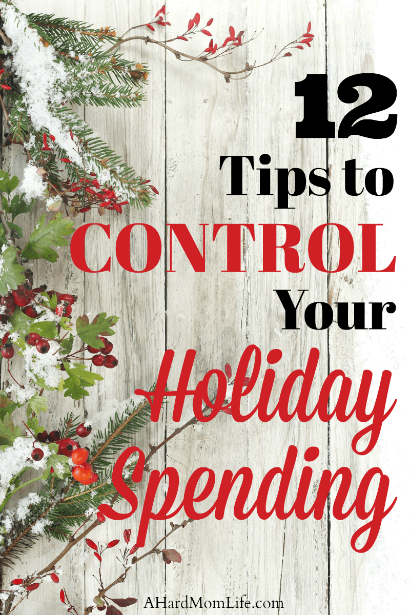 Are you on a tight budget this holiday season? Check out these 12 tips to control your holiday spending and get back on budget.