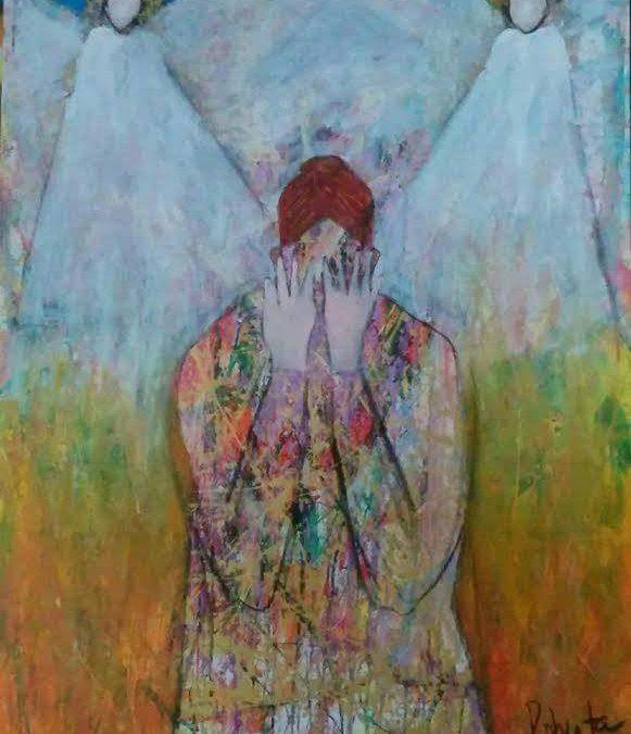 painting of angle by roberta millard