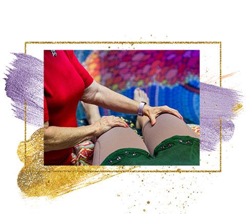 Roberta Millard releasign pain through energetic touch
