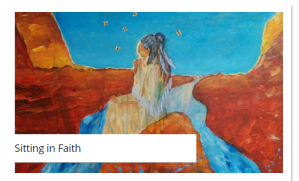 painting of a woman sitting in faith by roberta millard