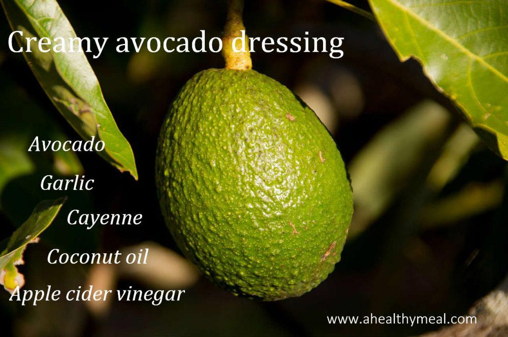 Recipe: Creamy Avocado Dressing & Zucchini Noodles