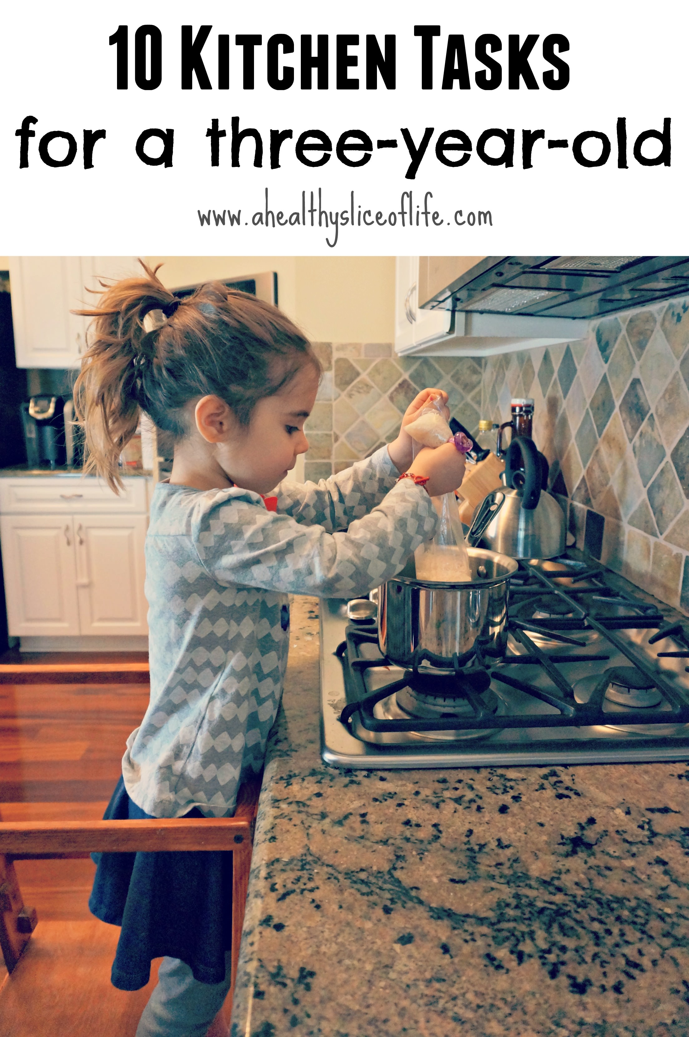 10 Kitchen Tasks For A Three Year Old