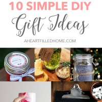 10 Simple DIY Gift Ideas
