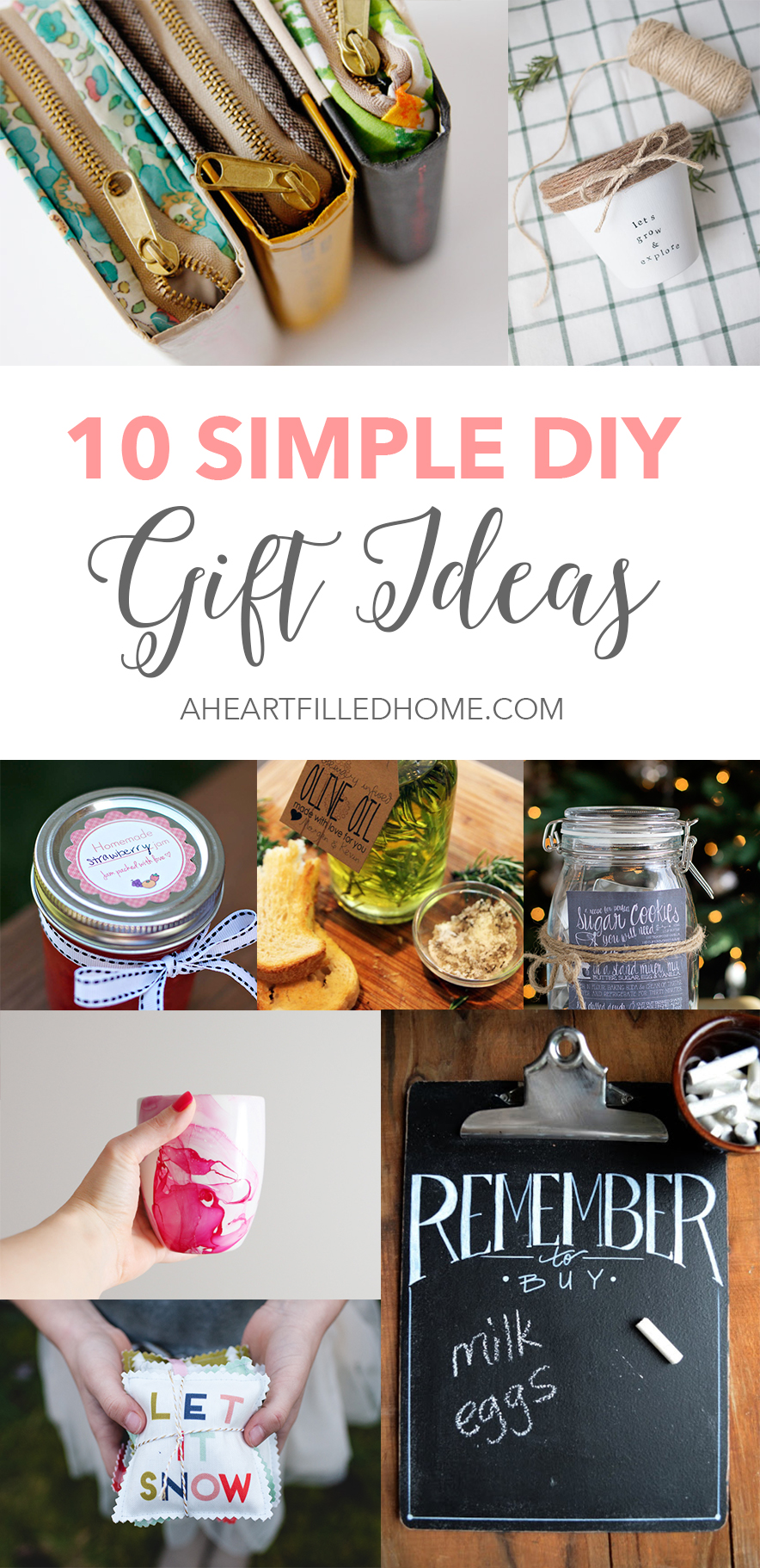 10 Simple DIY Gift Ideas from A Heart Filled Home.