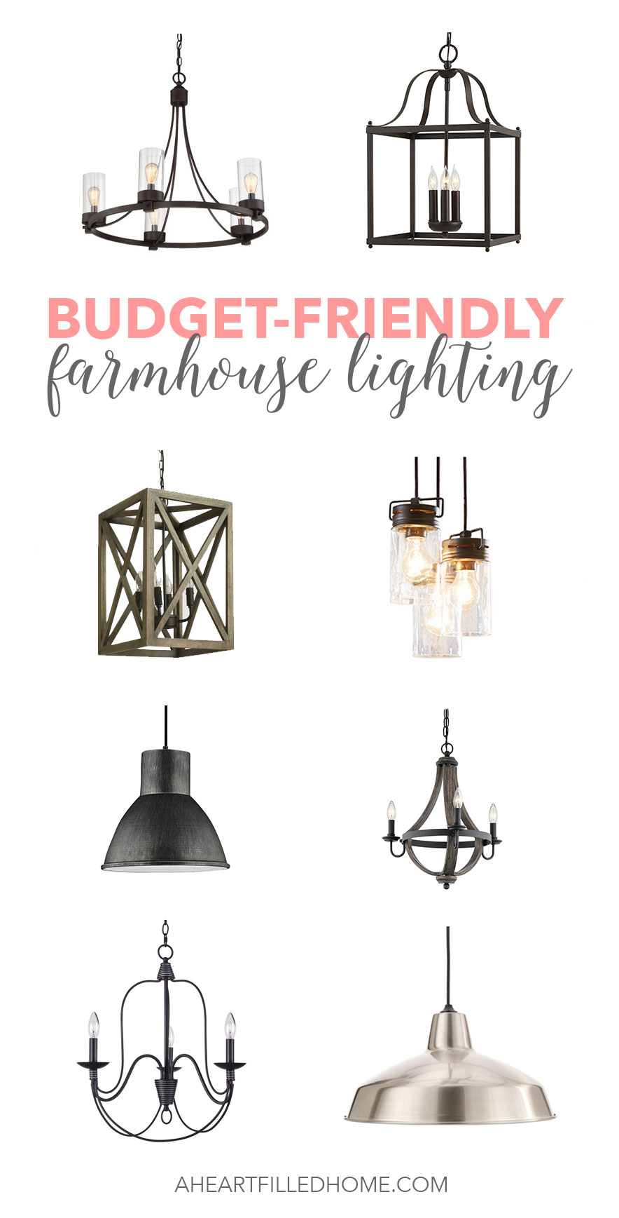 Budget friendly farmhouse lighting