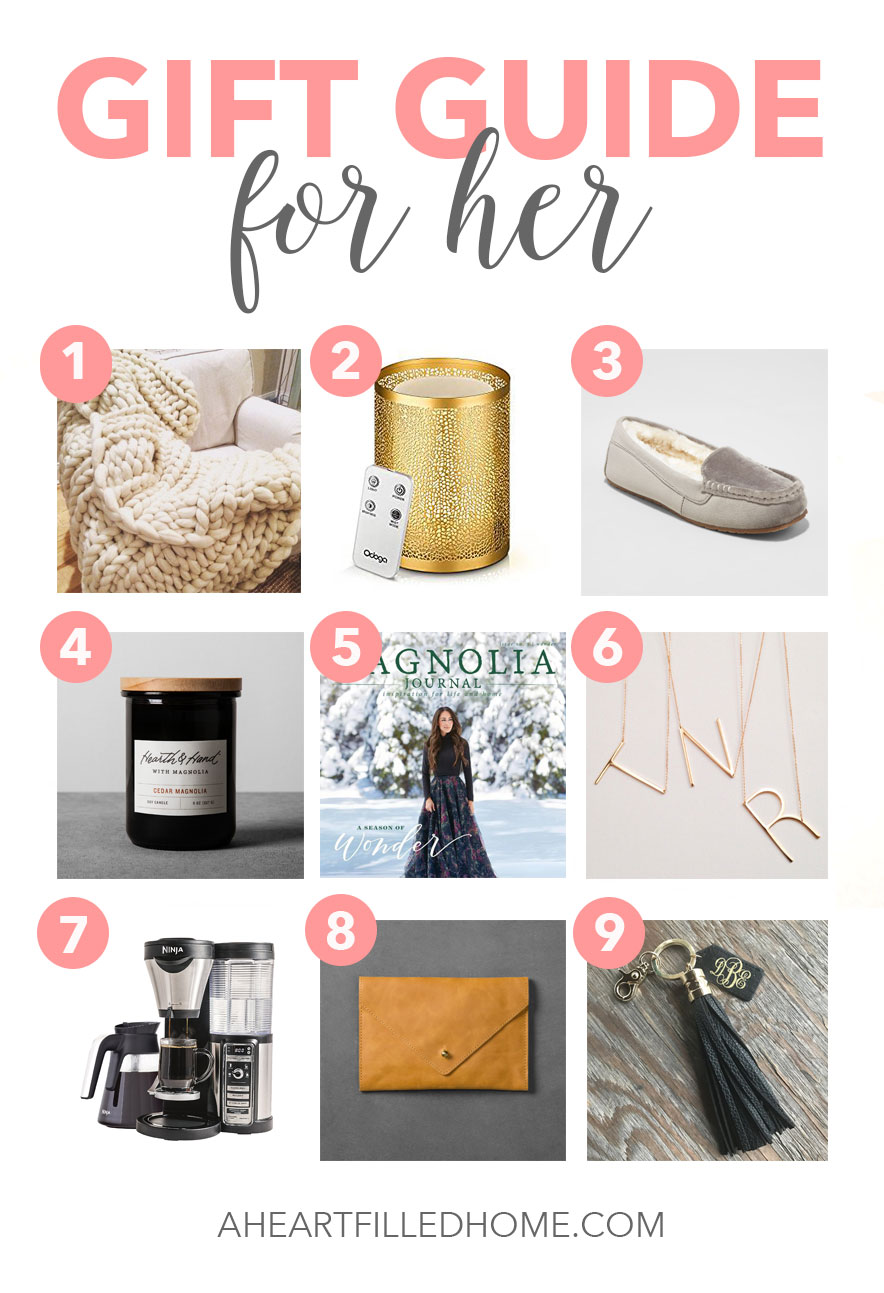 Holiday Gift Guide for Her - so many great gift ideas! from aheartfilledhome.com