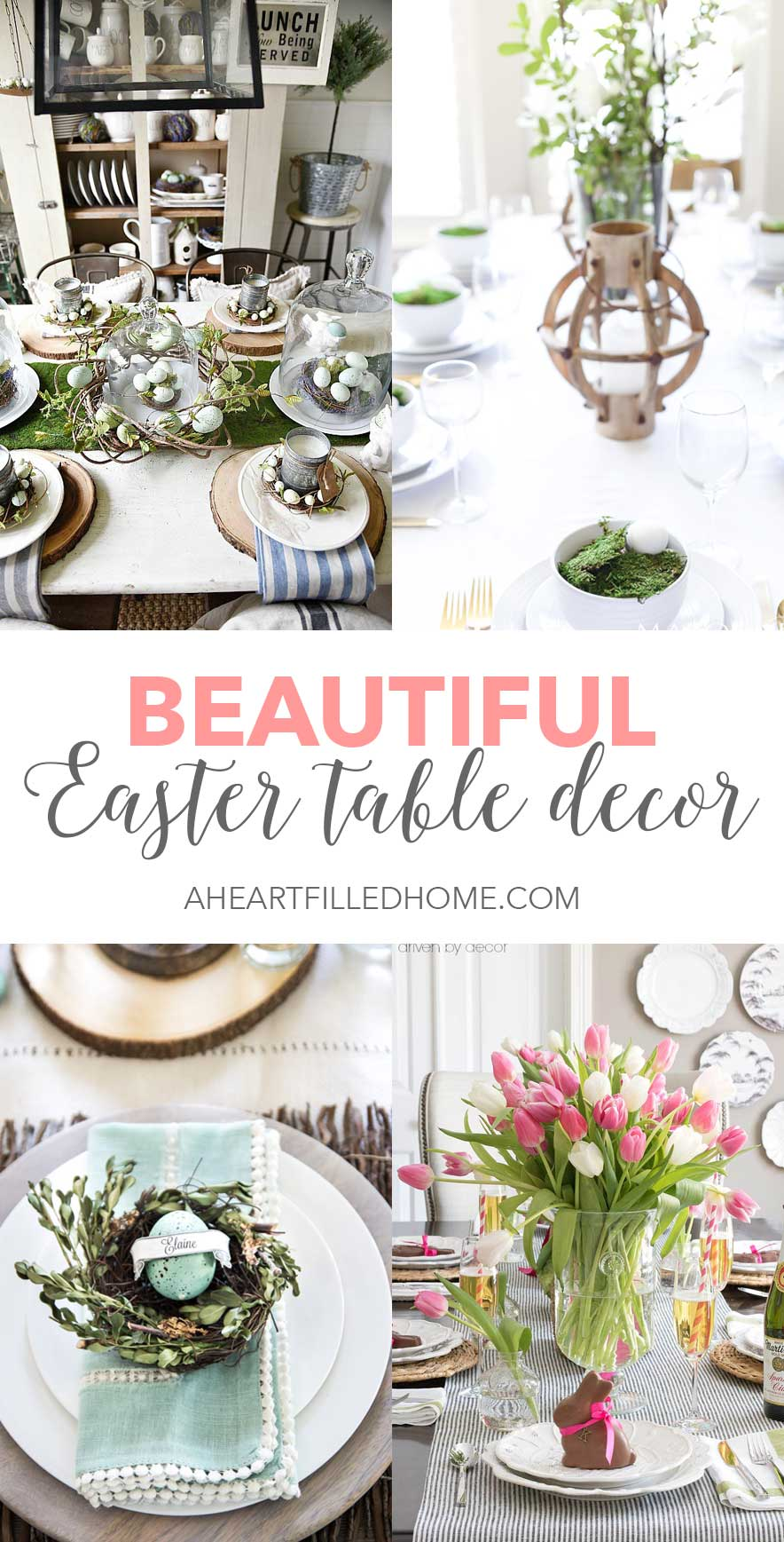 Easter Table Decor Ideas - Perfect for Easter!  sc 1 st  A Heart Filled Home & Beautiful Easter Table Decor - A Heart Filled Home | DIY Home ...