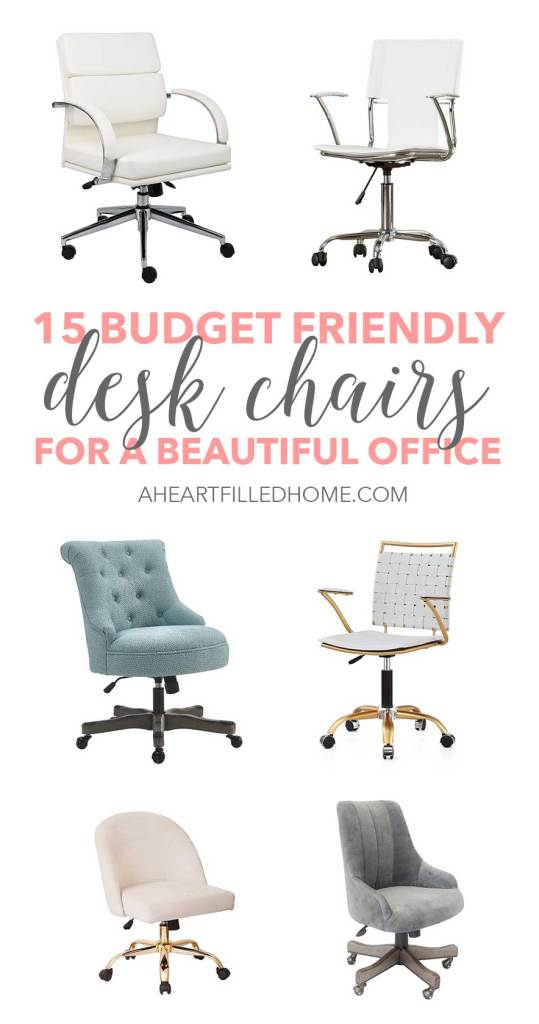 15 budget friendly desk chairs fora beautiful office!