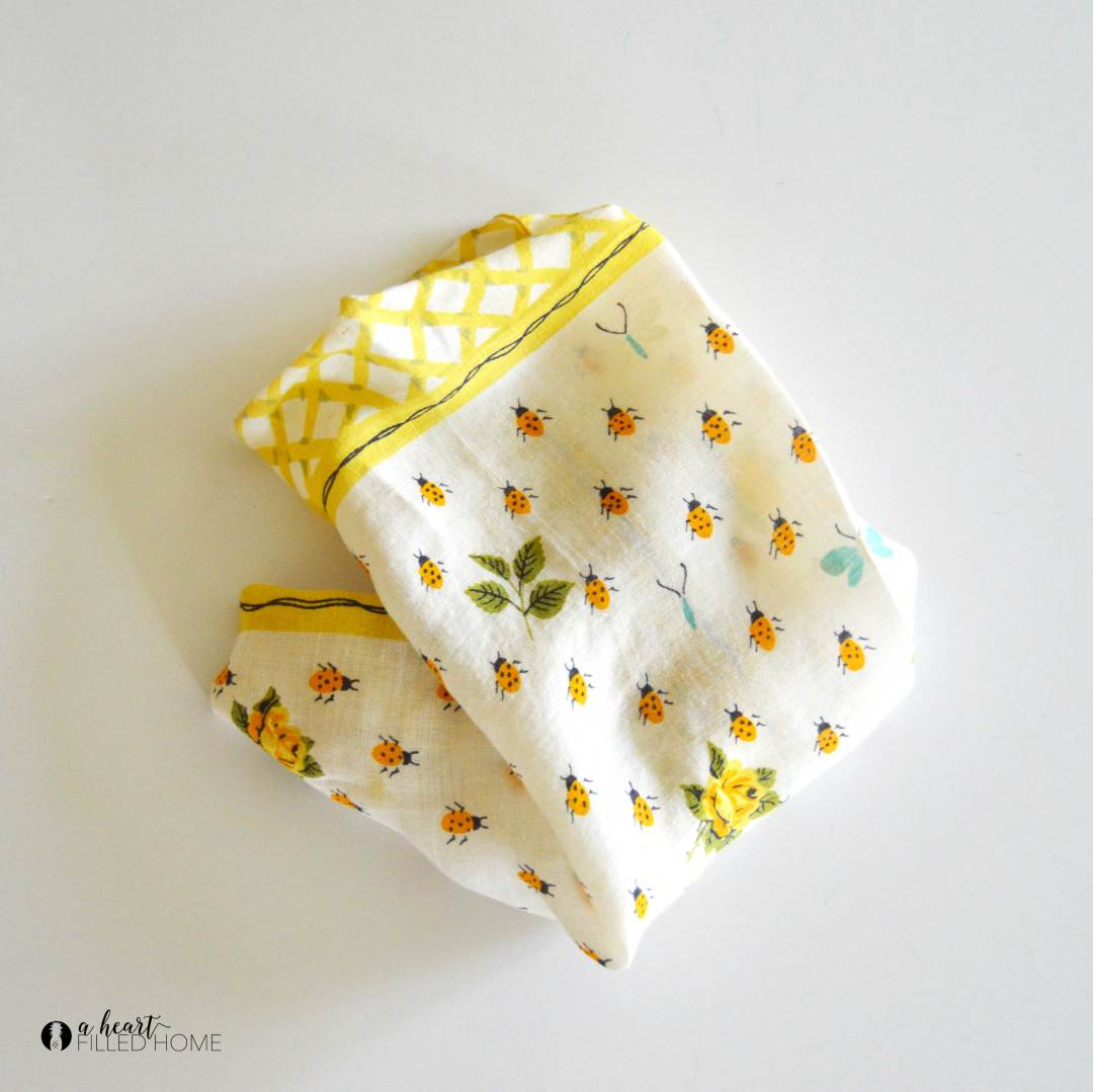 This easy DIY sentimental handkerchief framed art is so simple to make!