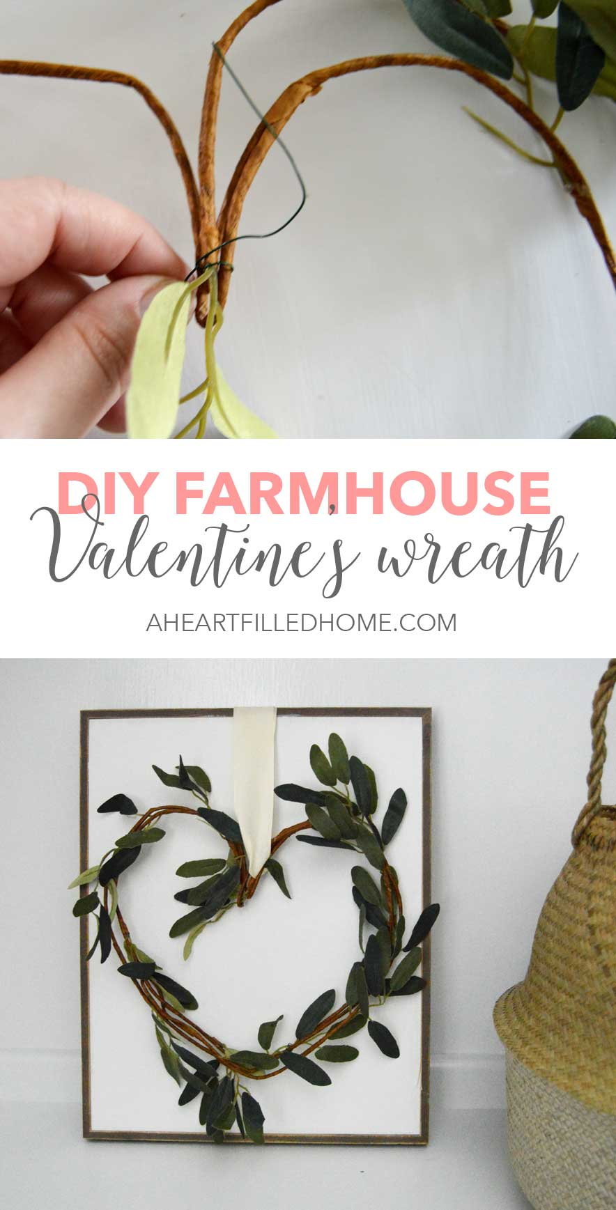 DIY Farmhouse Valentine's Wreath