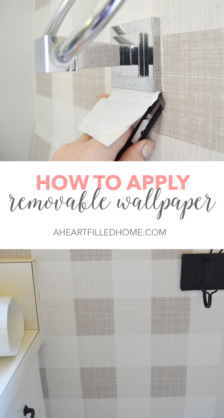 How To Apply Removable Wallpaper! It is so easy to transform a wall with peel and stick wallpaper!