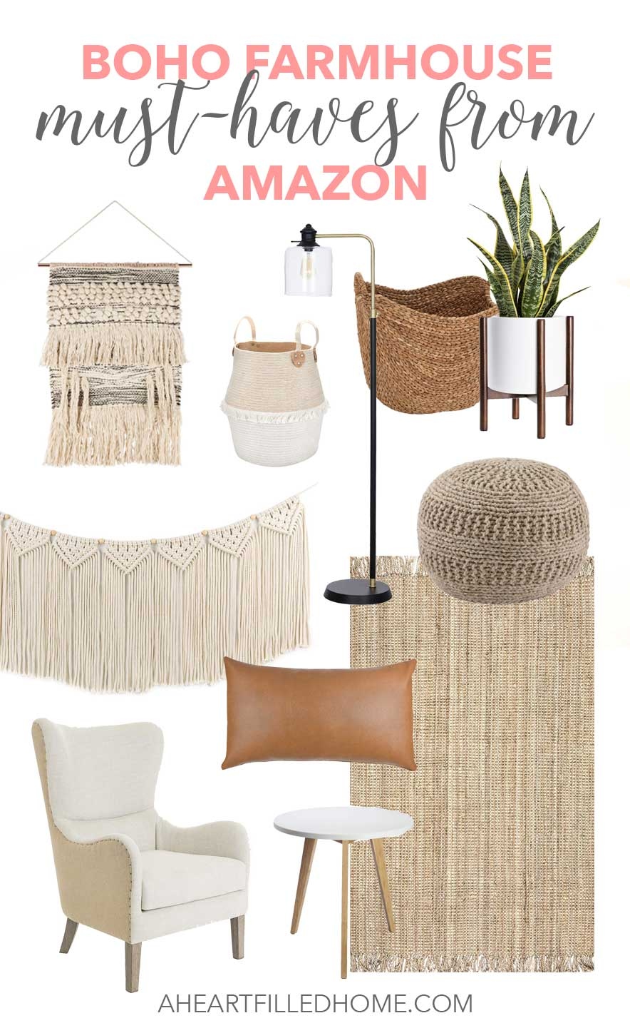 boho farmhouse must haves from Amazon!
