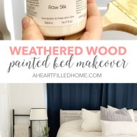 Weathered Wood Painted Bed Makeover with Fusion Mineral Paint