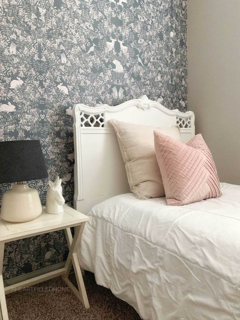 How To Apply Wallpaper - Photowall Review by A Heart Filled Home