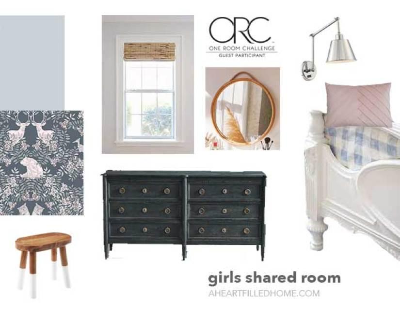ORC shared girls room makeover design plans