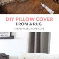 How To Make A Pillow From A Rug