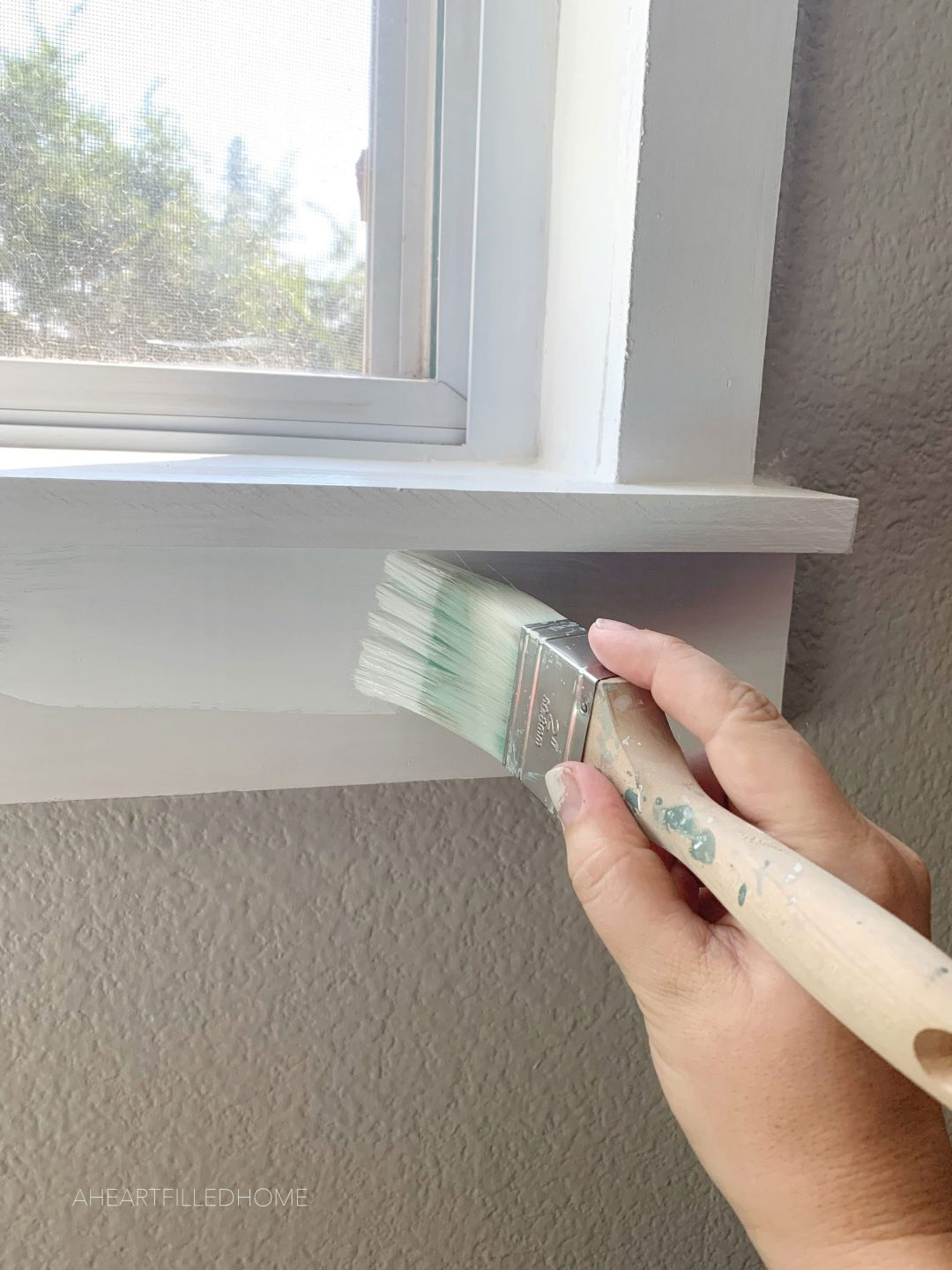 DIY Window Trim ORC Week 7 - from A Heart Filled Home