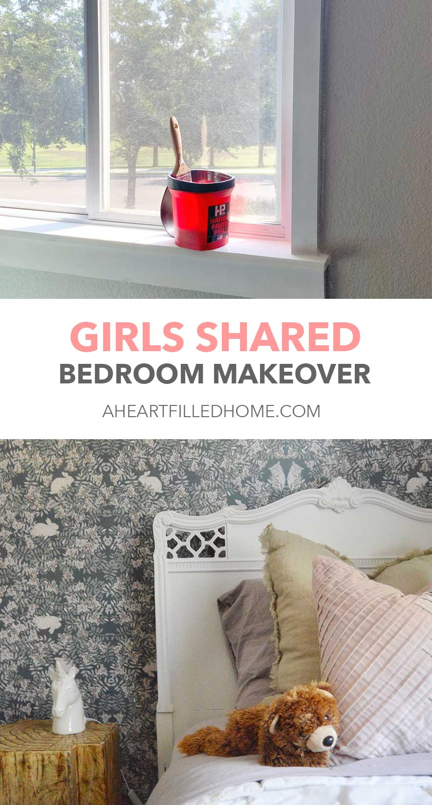 Girls Shared Room Makeover Reveal - ORC Week 8 - A Heart Filled Home