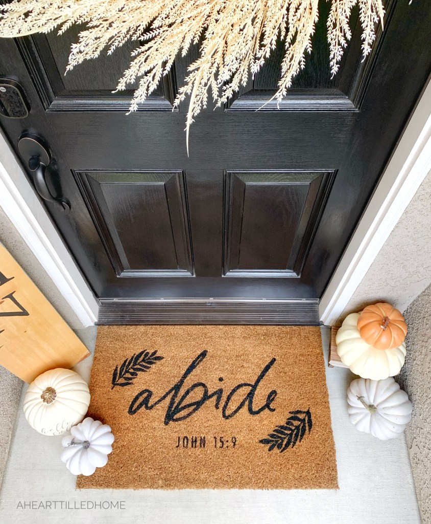 Front Porch Fall Decor and Affordable Faux Pumpkins from A Heart Filled Home