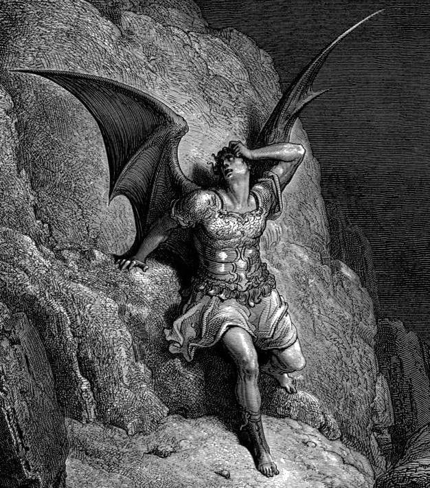 Gustave Doré, Depiction of Satan, the central figure in John Milton's Paradise Lost c.1866