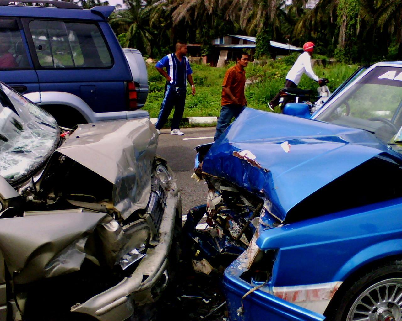 Head On Car Collision
