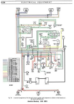 austin healey 1004 wiring diagram