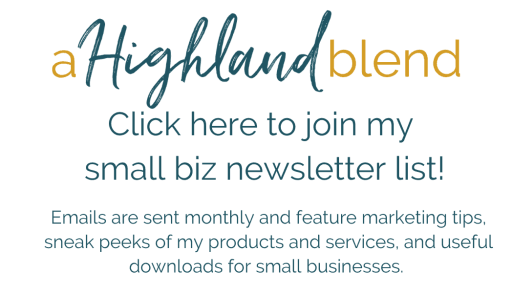 Sign up to join my email newsletter list