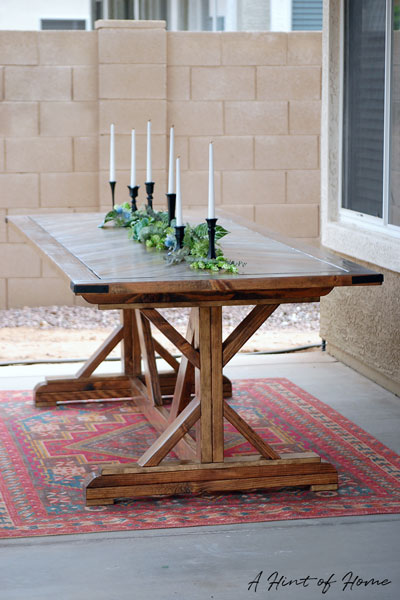 Diy Outdoor Dining Table A Hint Of Home