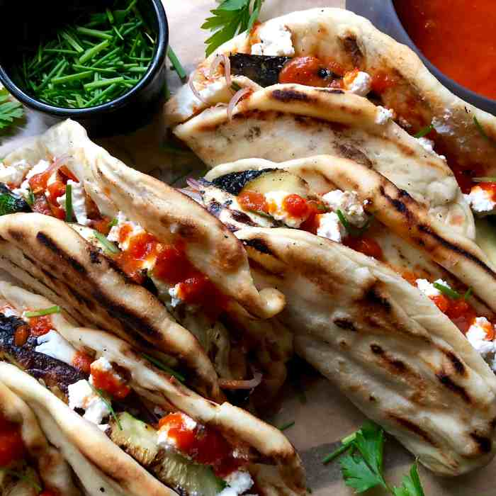 grilled zucchini pizza tacos